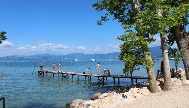 Camping Cisano San Vito - zwemsteiger Gardameer